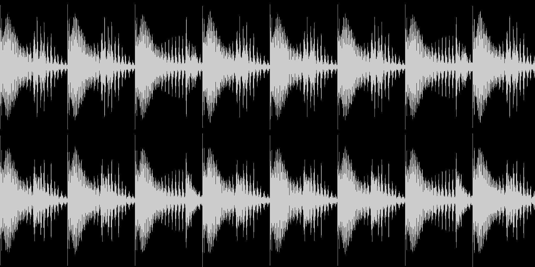 BPM128EDMリズムループキーEの未再生の波形