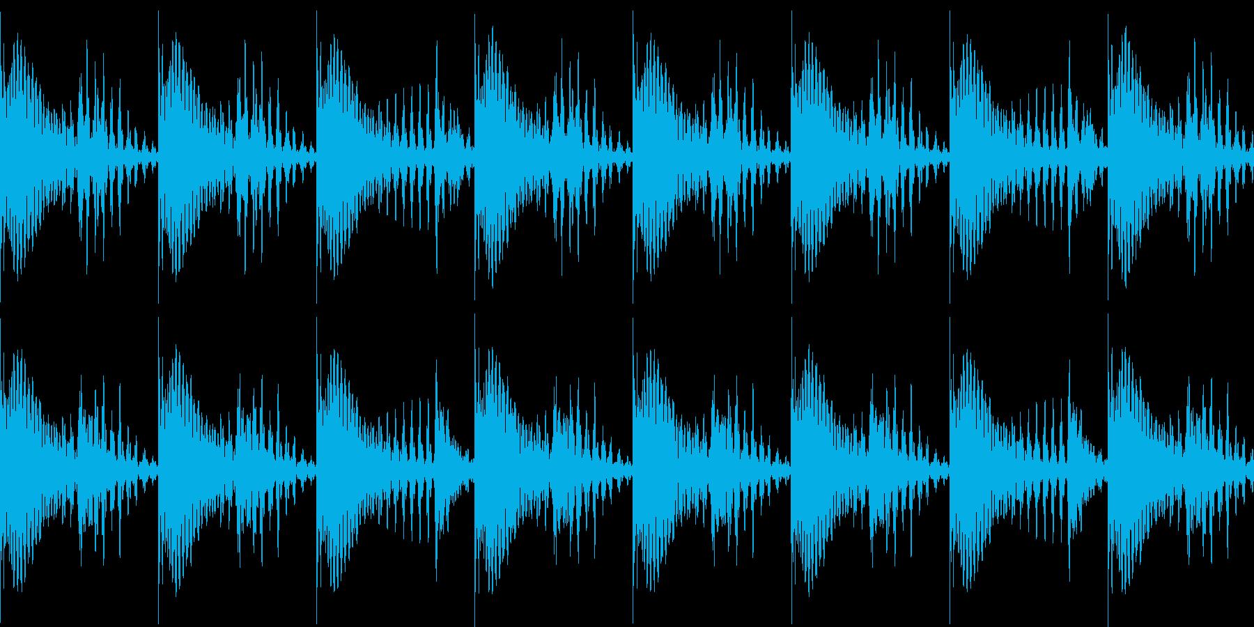 BPM128EDMリズムループキーEの再生済みの波形