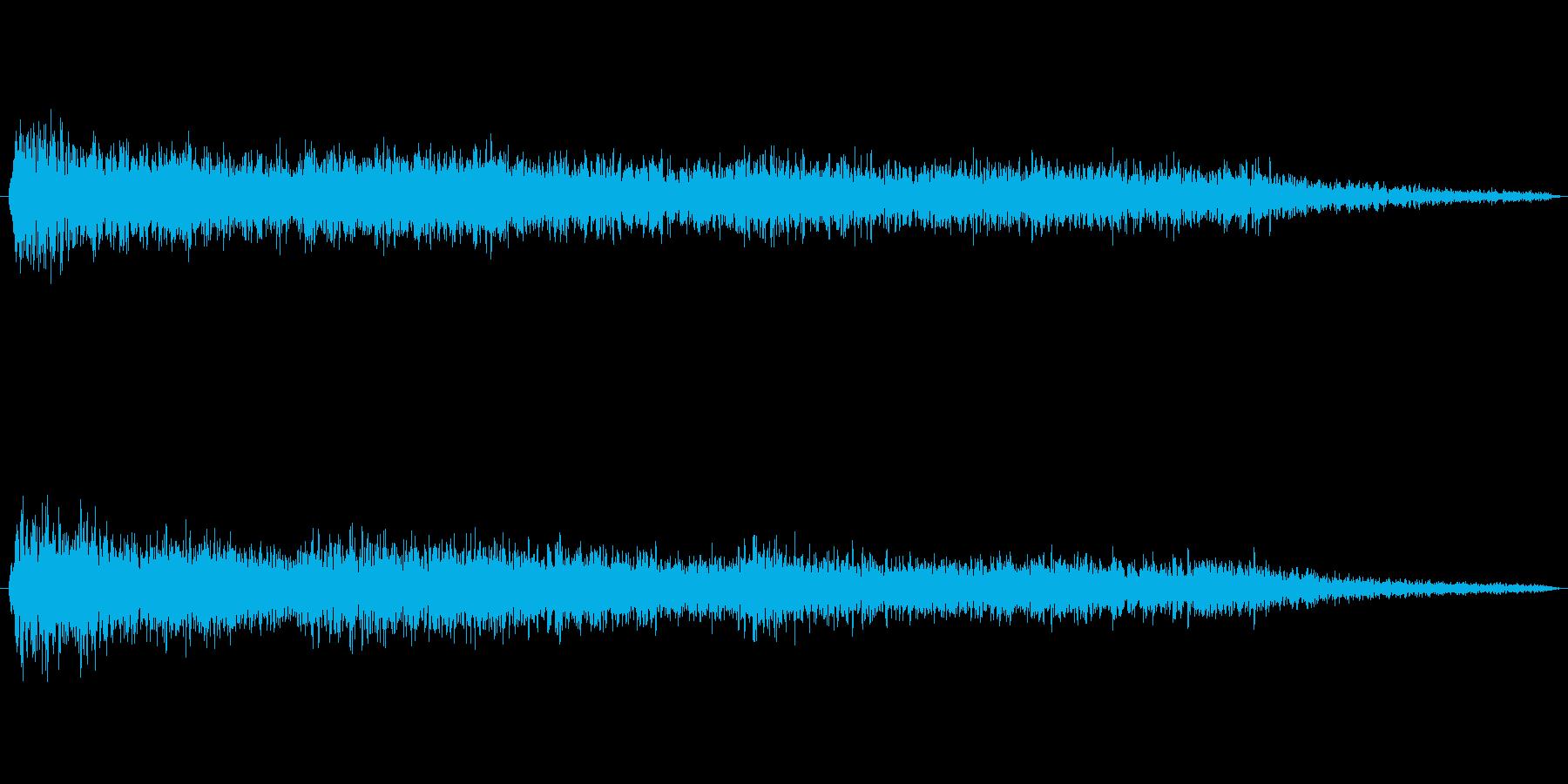 CM前に入れるアイキャッチの再生済みの波形
