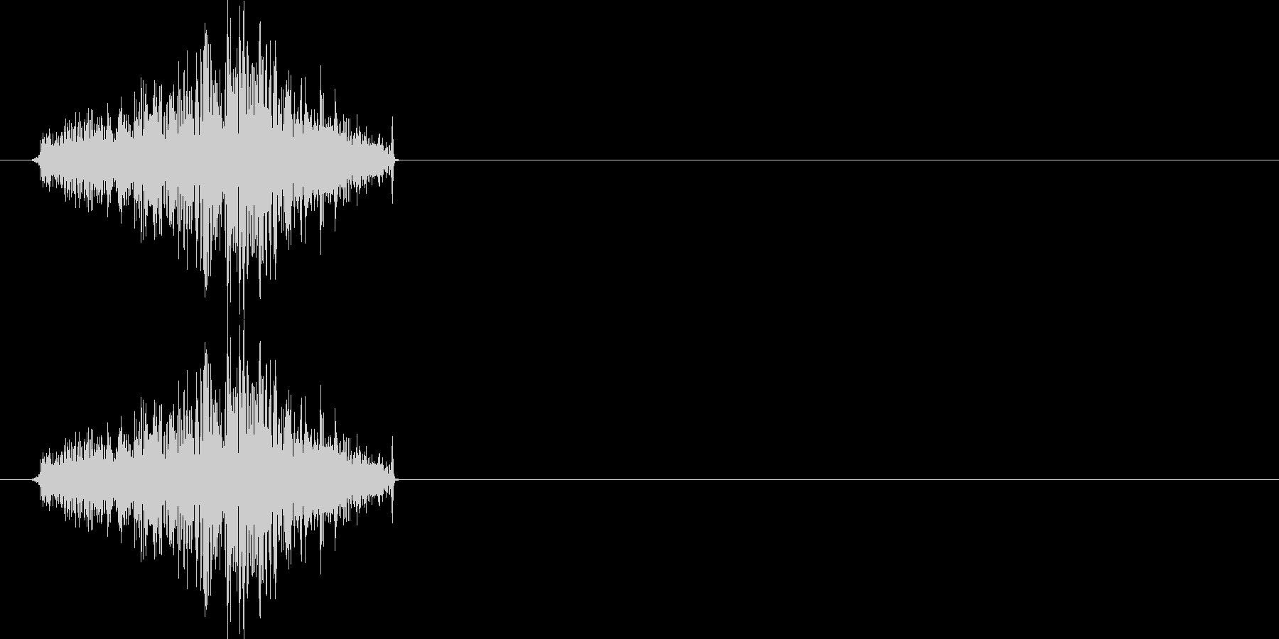 選択音や攻撃音にもご利用いただけると思…の未再生の波形