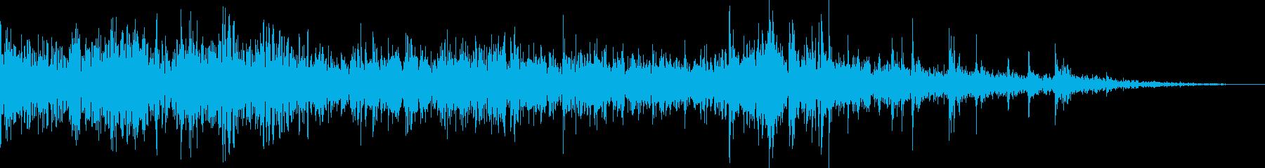 ドンパァ!本当にリアルな花火の効果音10の再生済みの波形