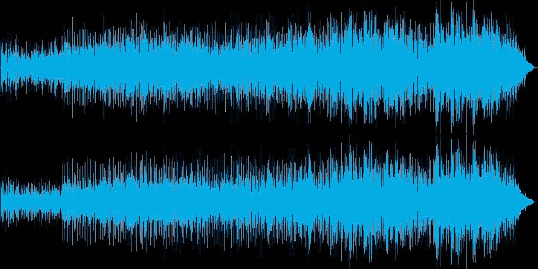 哀愁のある歌入りバラード曲の再生済みの波形