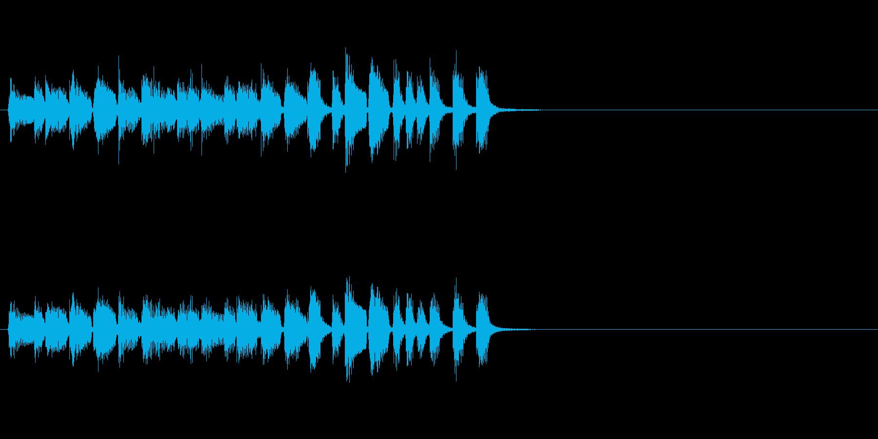 しっとりと落ち着くラテン系ジングルの再生済みの波形