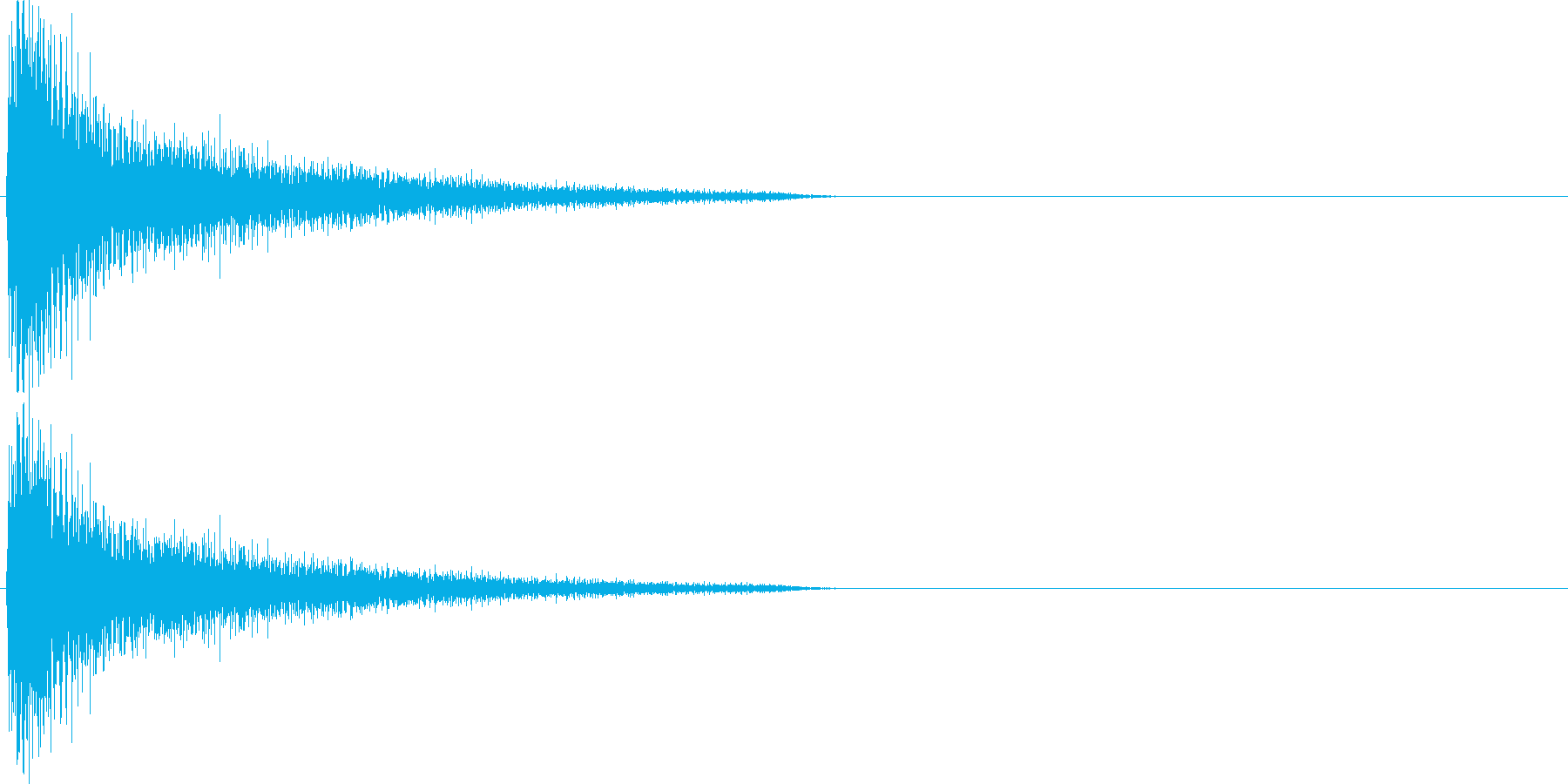 ガーン(衝撃を受けた時のピアノ音 パタ…の再生済みの波形
