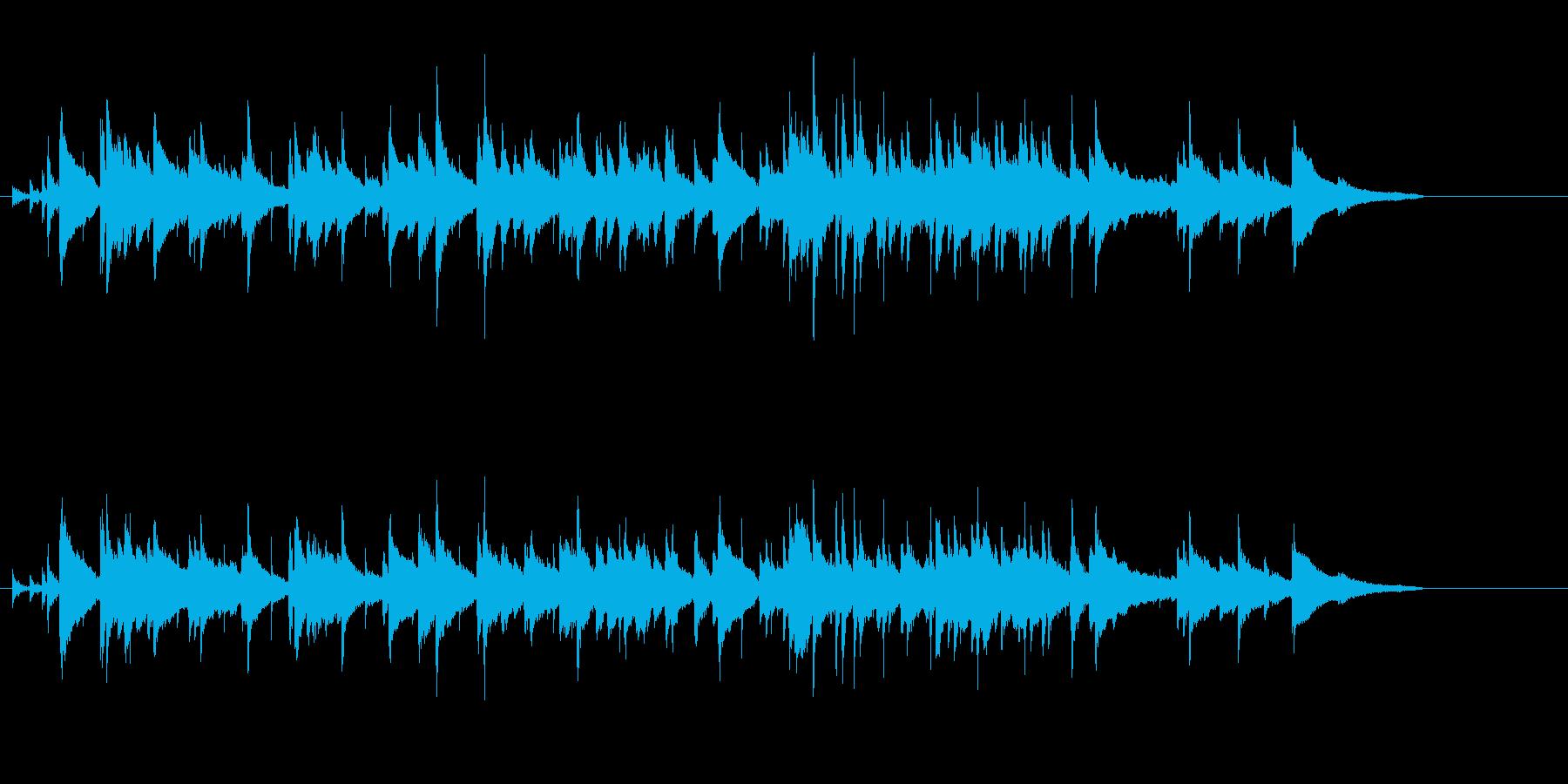メロディーが優しいピアノ・バラードの再生済みの波形
