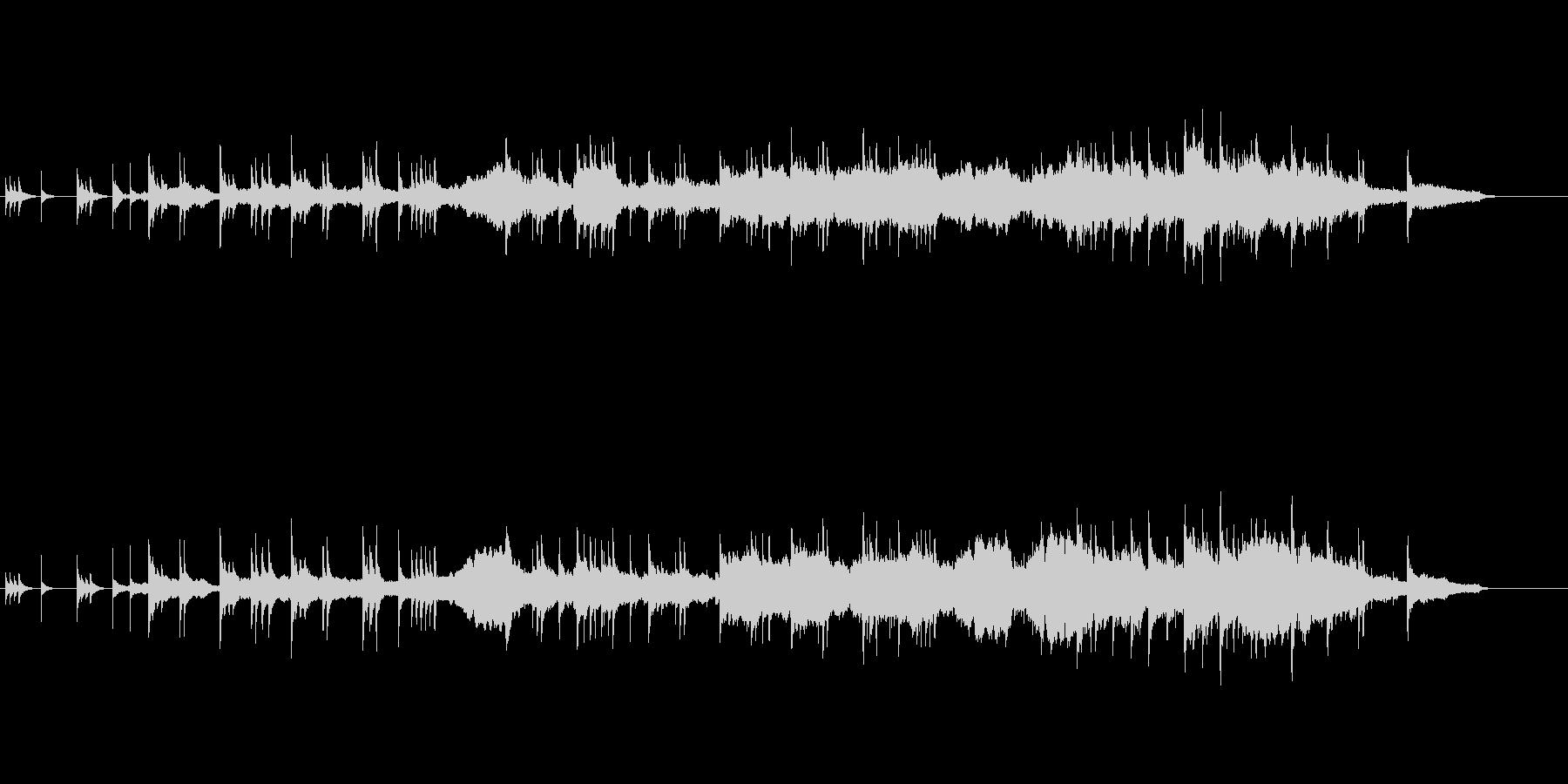 伝統美を追求した琴と尺八による邦楽の未再生の波形