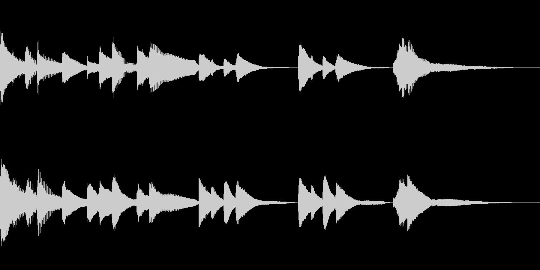 切ないバラードのBGMの未再生の波形
