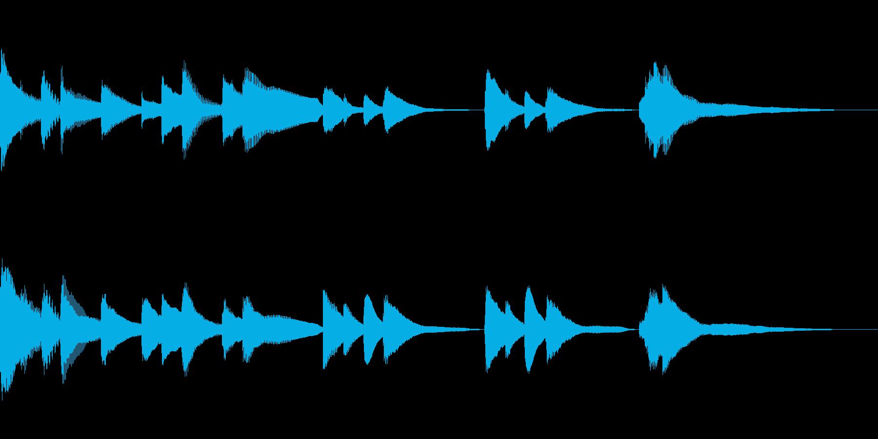 切ないバラードのBGMの再生済みの波形