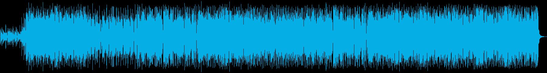 ピアノとギターのポップな癒し系BGMの再生済みの波形