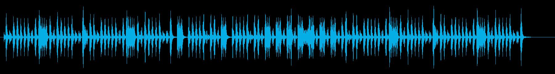 幻想的なテクノポップミュージックの再生済みの波形