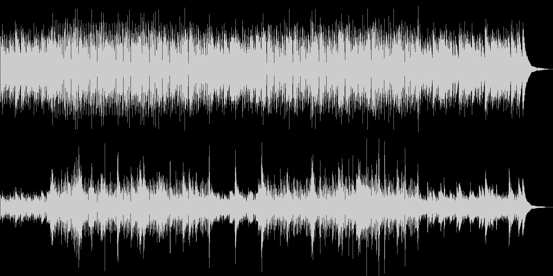 シンプルでゆったりと落ち着いたボサノバの未再生の波形