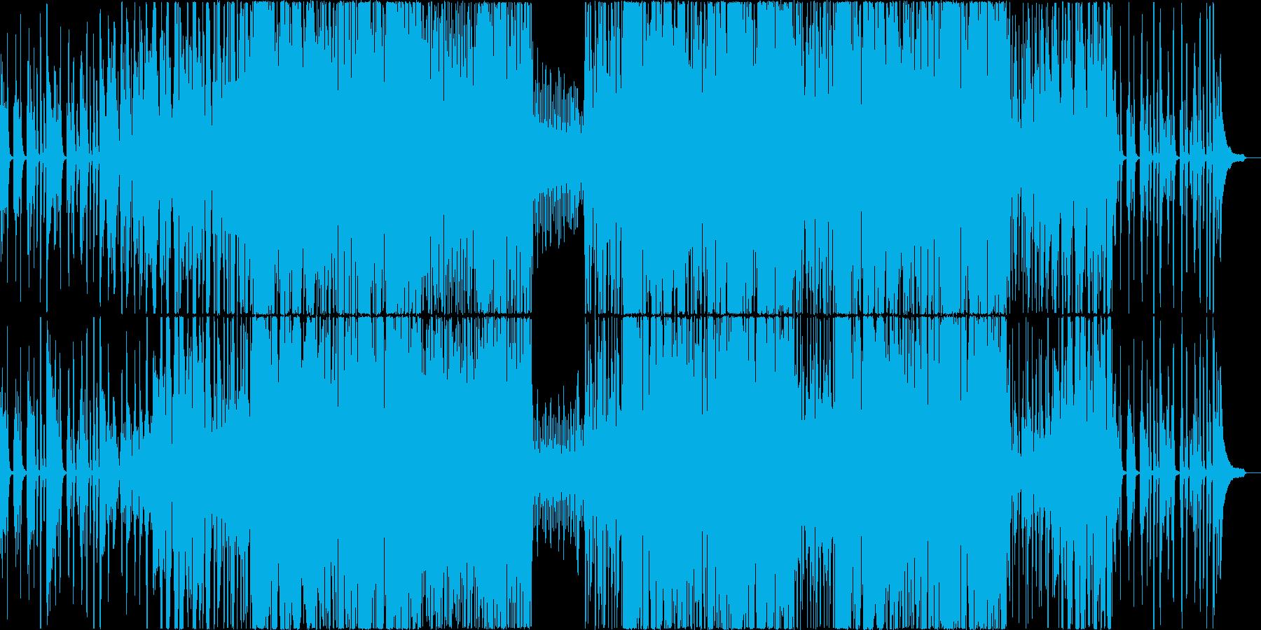 わくわくおしゃれなピアノ+バイオリンの再生済みの波形
