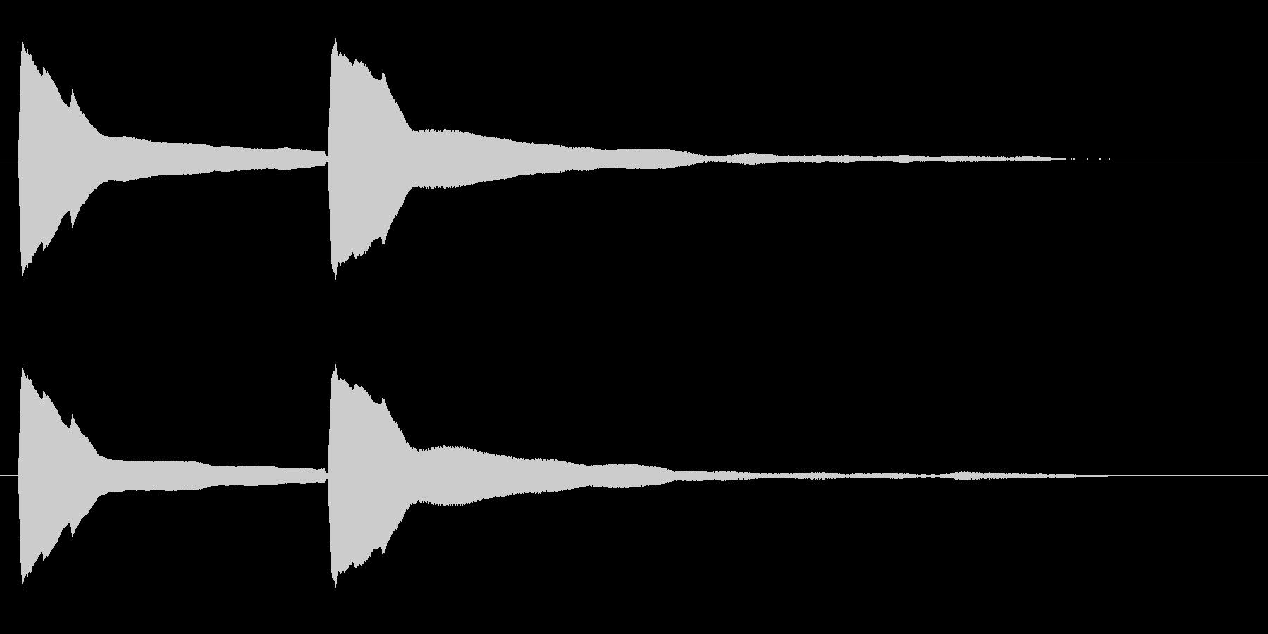 ピポン(高音のお知らせ音)の未再生の波形