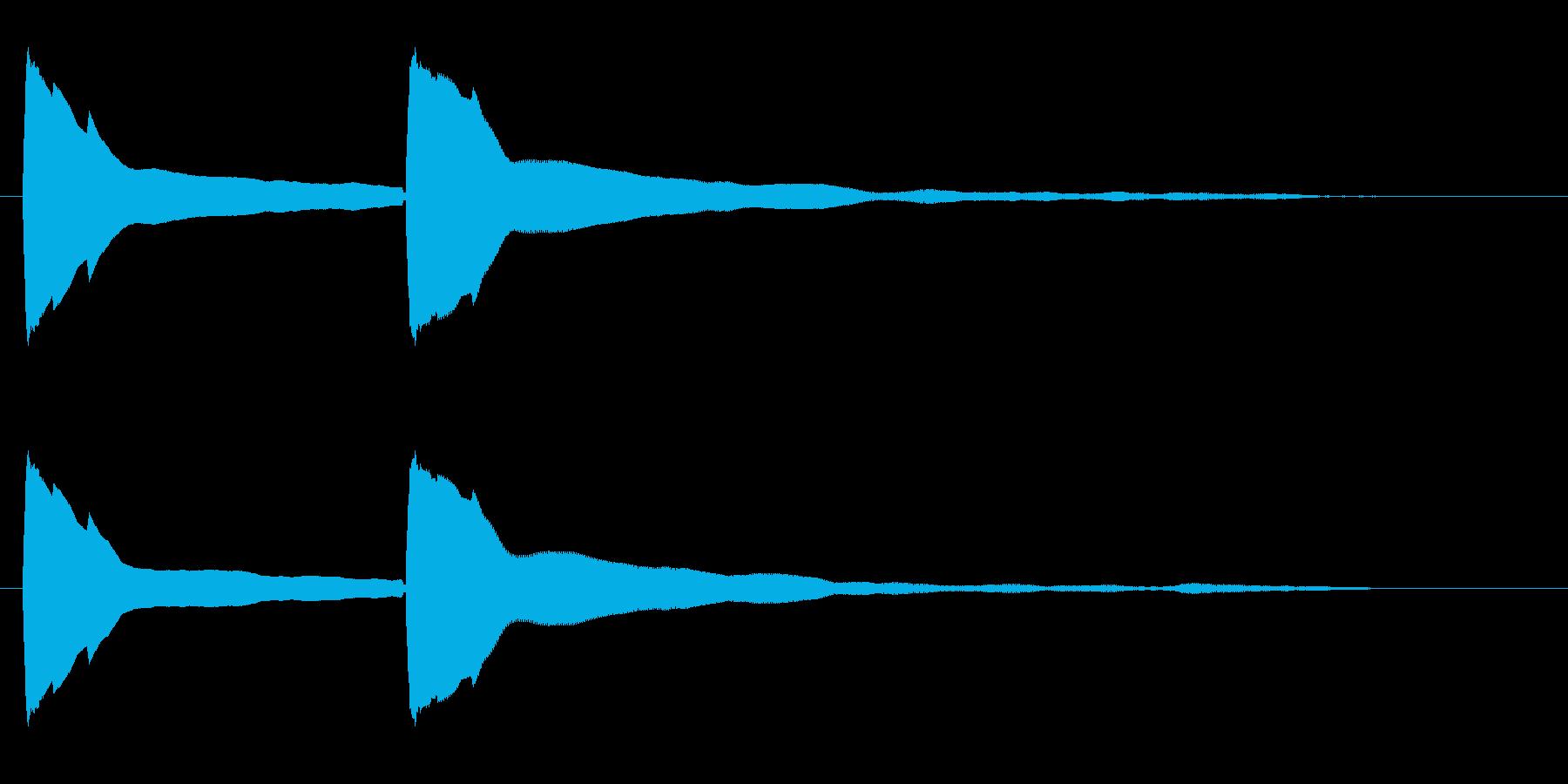 ピポン(高音のお知らせ音)の再生済みの波形