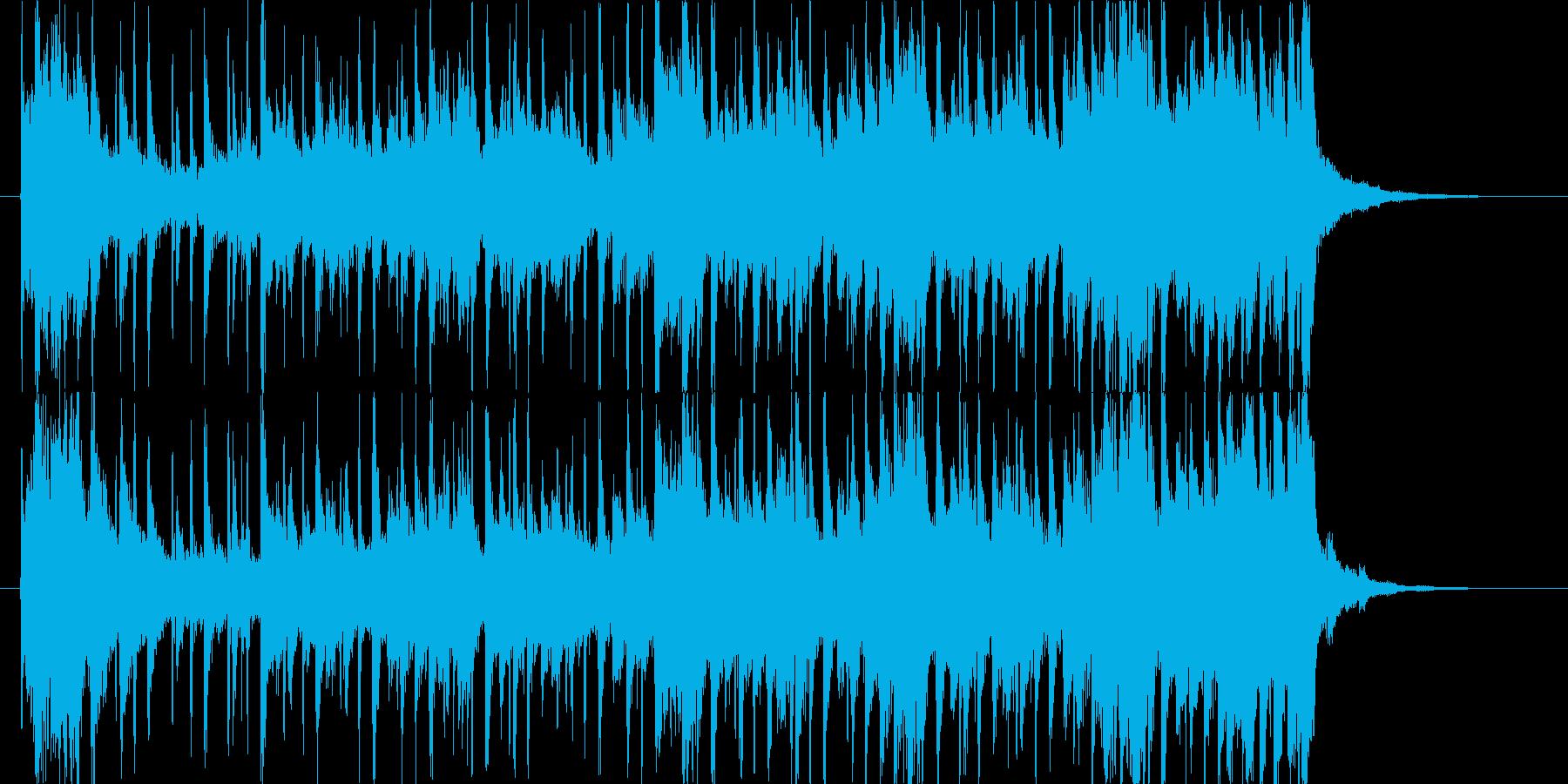 軽快な雰囲気のポップスの再生済みの波形
