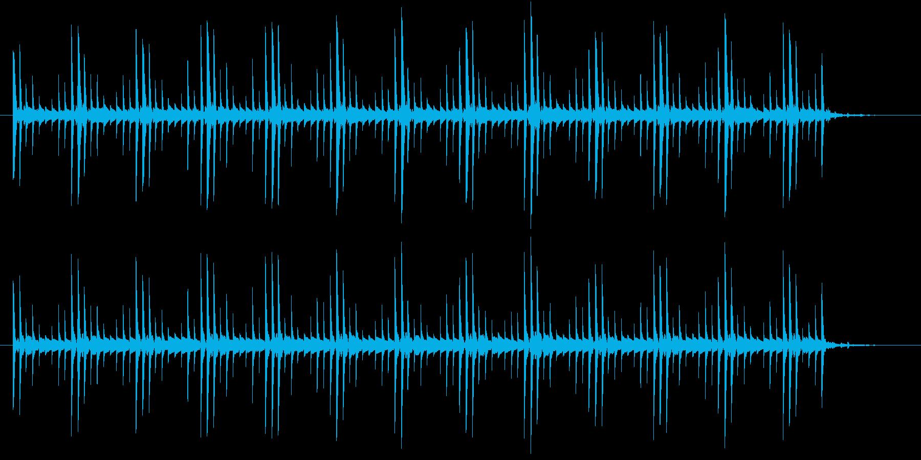 ピロリンピロリンの再生済みの波形