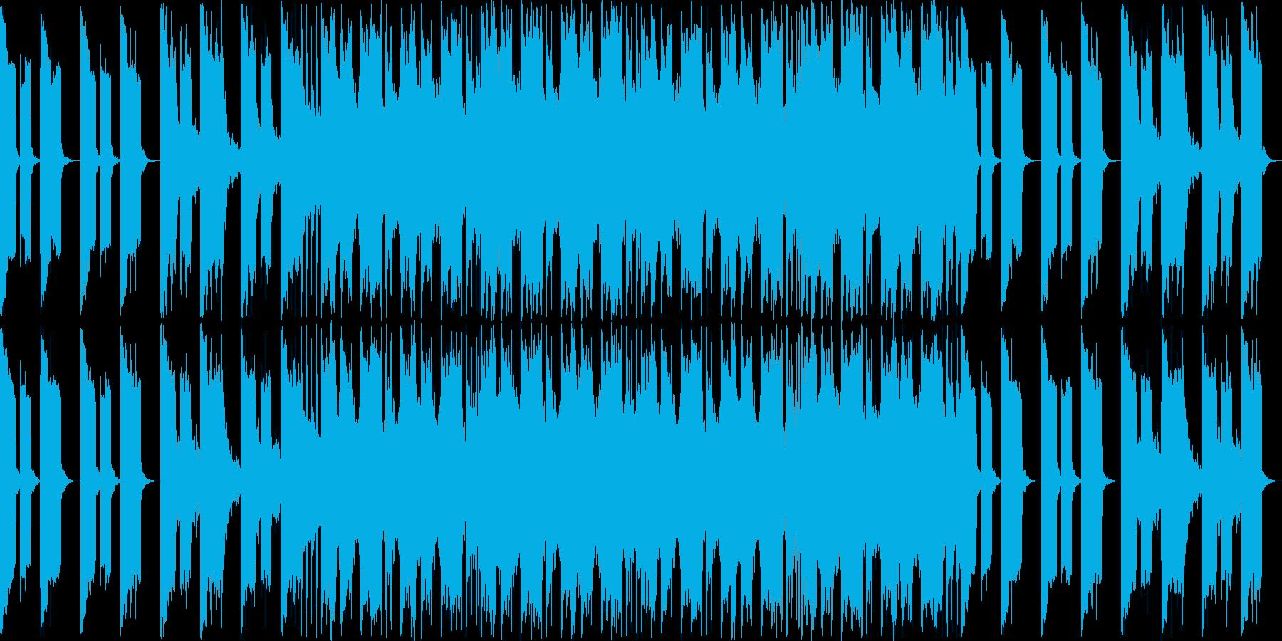 落ち着いて、爽やかな雰囲気のテクノポップの再生済みの波形