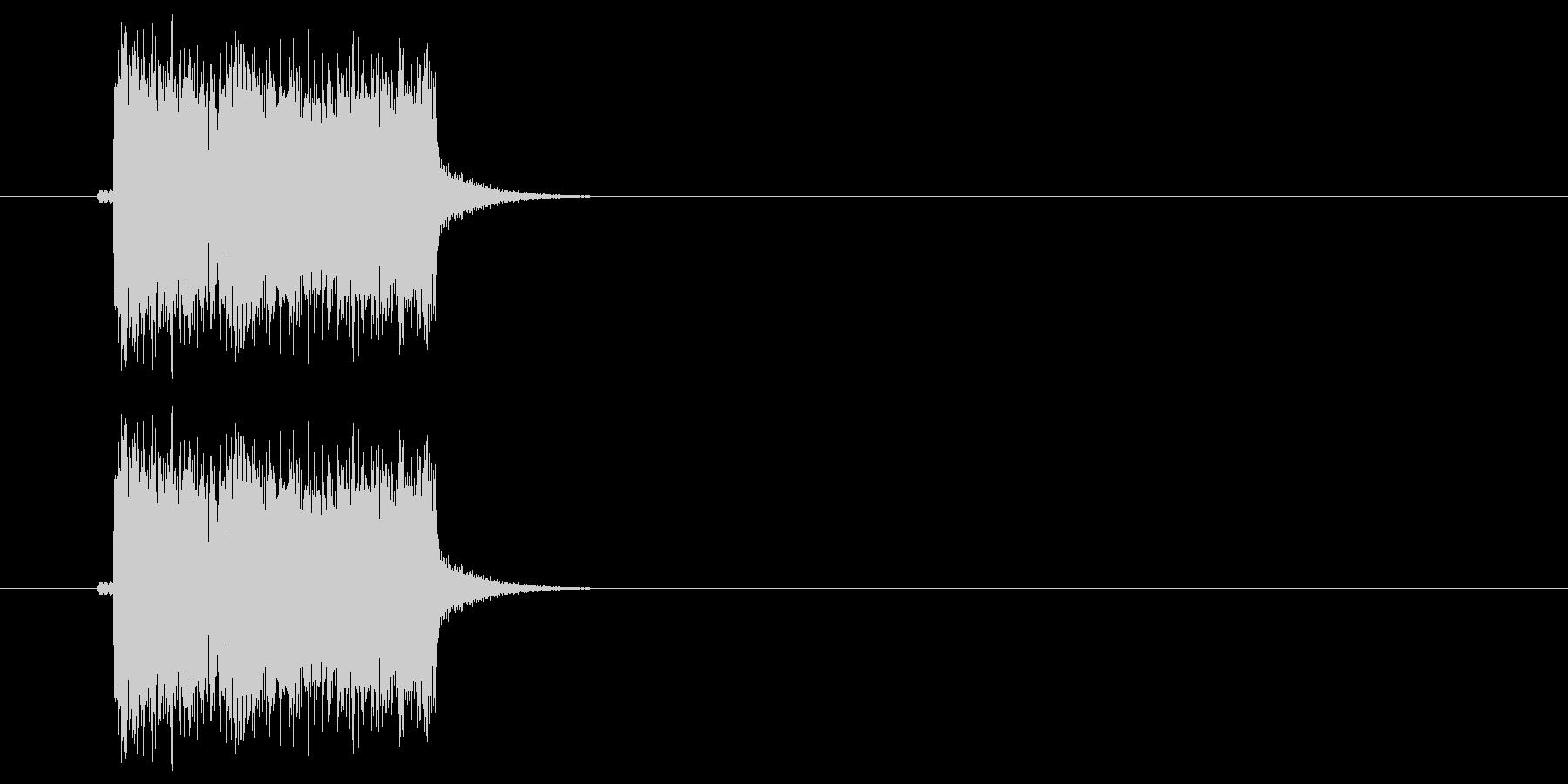 ギターフレーズ020の未再生の波形