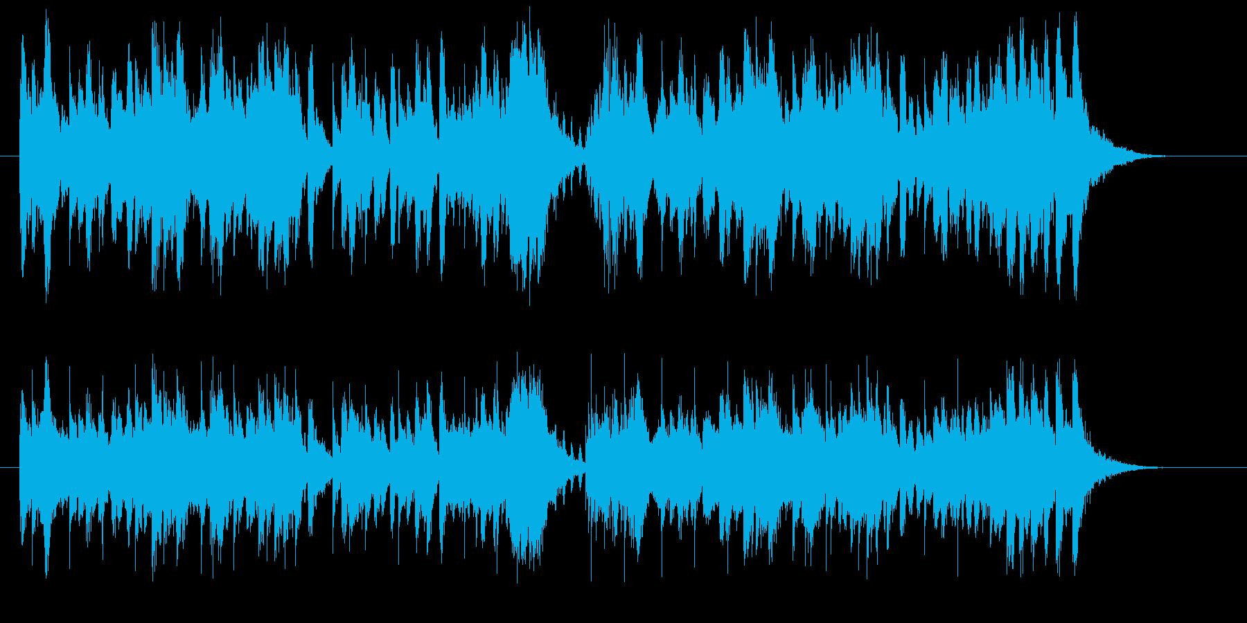 緩やかで爽やかなトランペットジングルの再生済みの波形