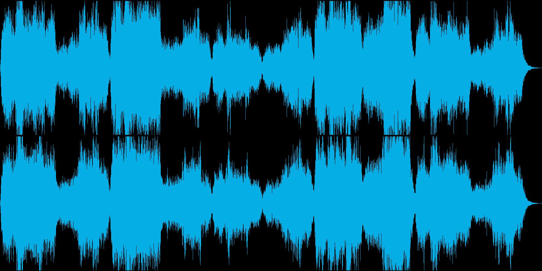 美しいクワイア(聖歌隊)の賛美歌の再生済みの波形