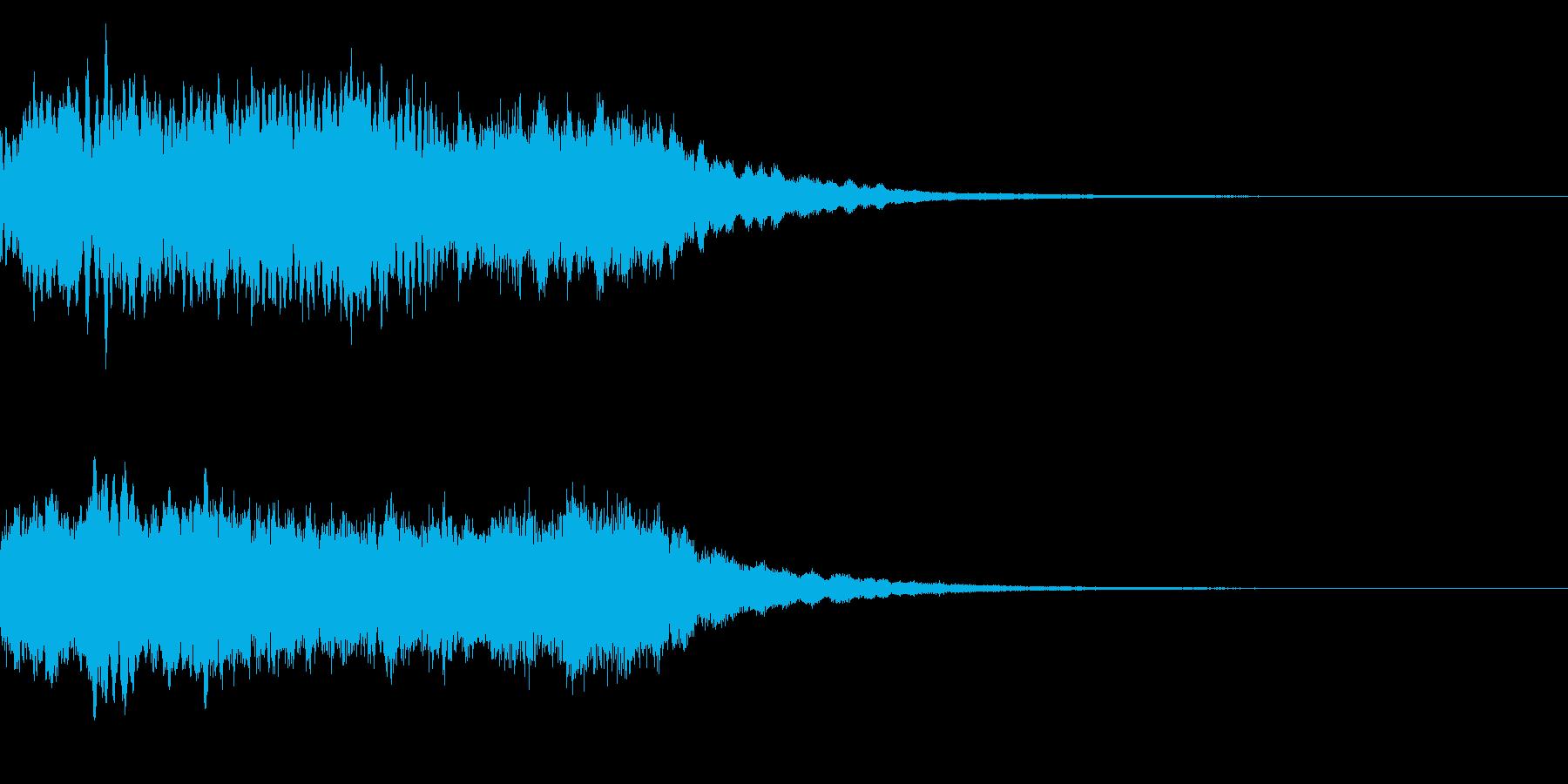 神社 結婚式の笛(笙)和風フレーズ!02の再生済みの波形