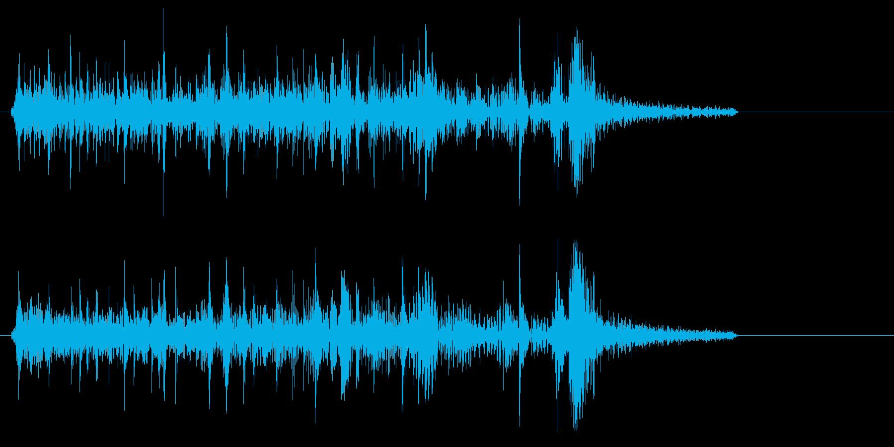 ブーンブツンというマシン停止音の再生済みの波形
