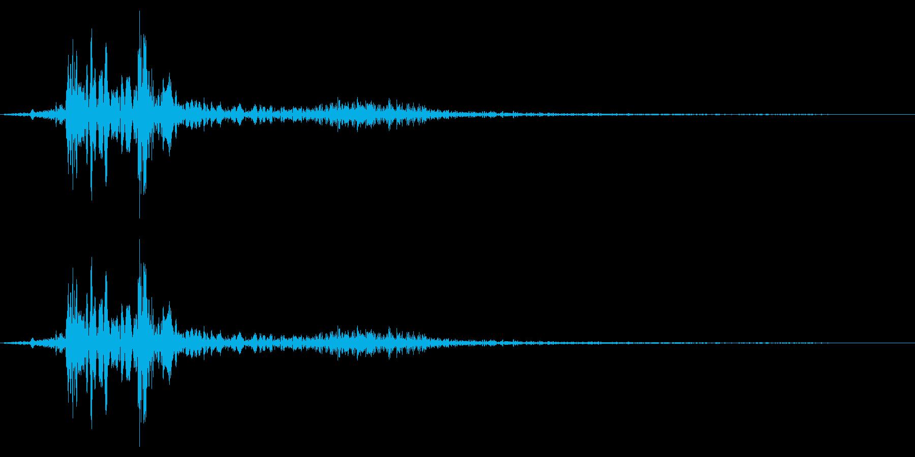 電話受話器を取るの再生済みの波形