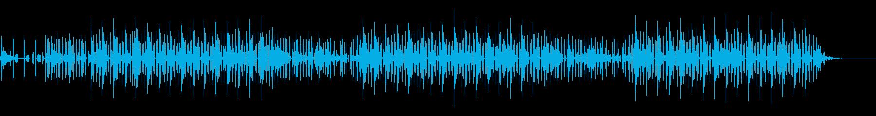 シンセサイザーを使った静かなBGMの再生済みの波形