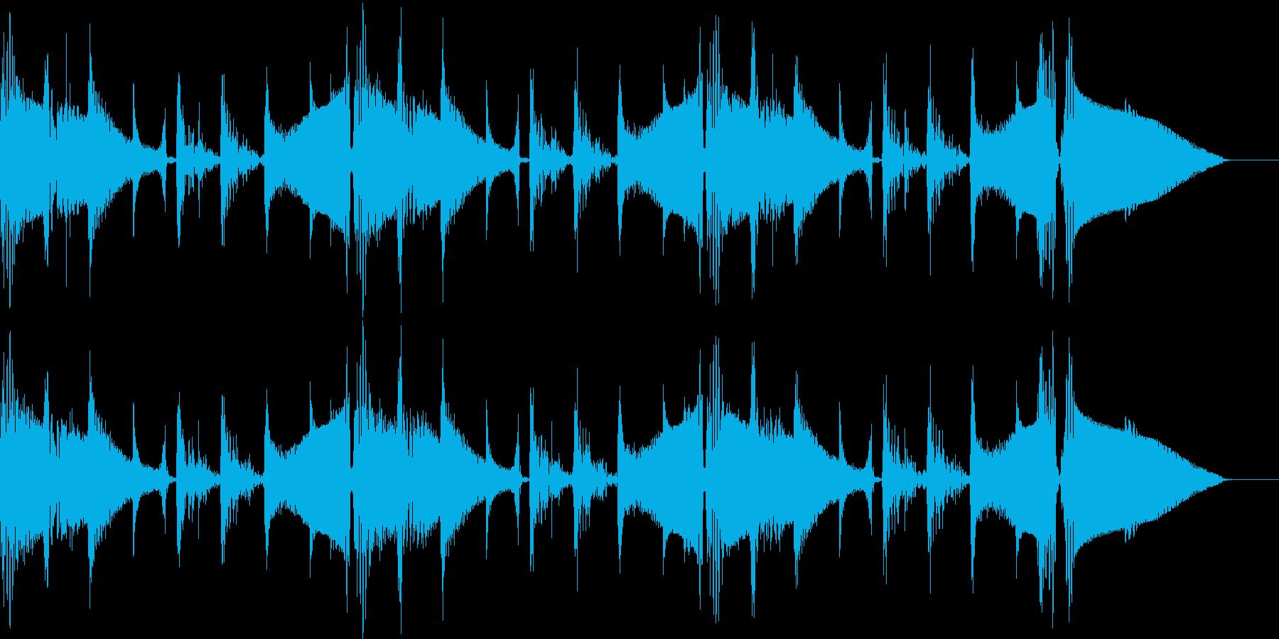 しっとりとしたBGMの再生済みの波形