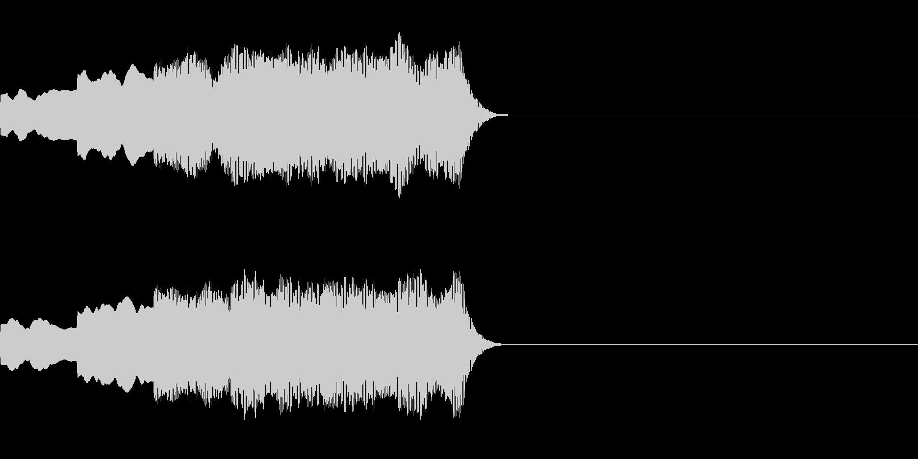 ピンポンパンポン(店内アナウンス後の音)の未再生の波形