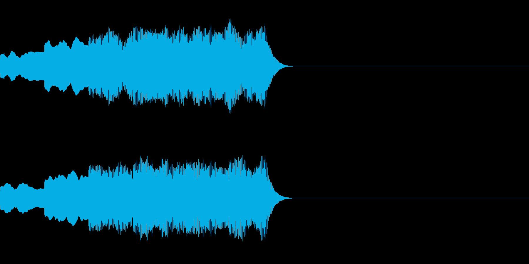 ピンポンパンポン(店内アナウンス後の音)の再生済みの波形