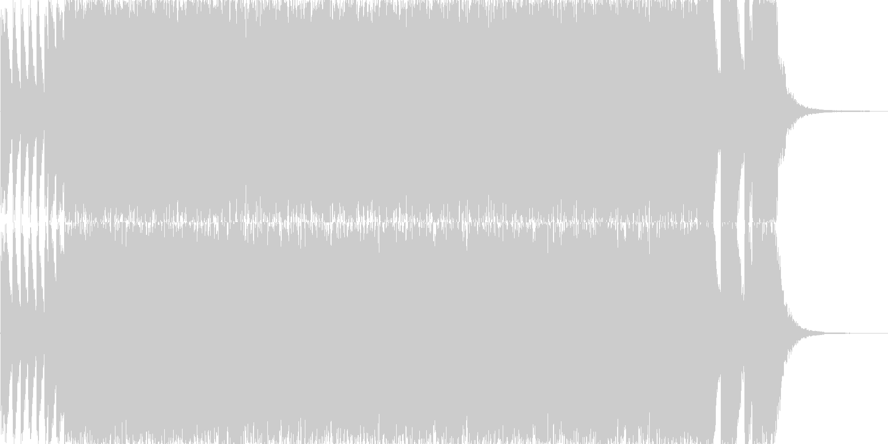 勢いと疾走感のあるトランス風ジングルの未再生の波形
