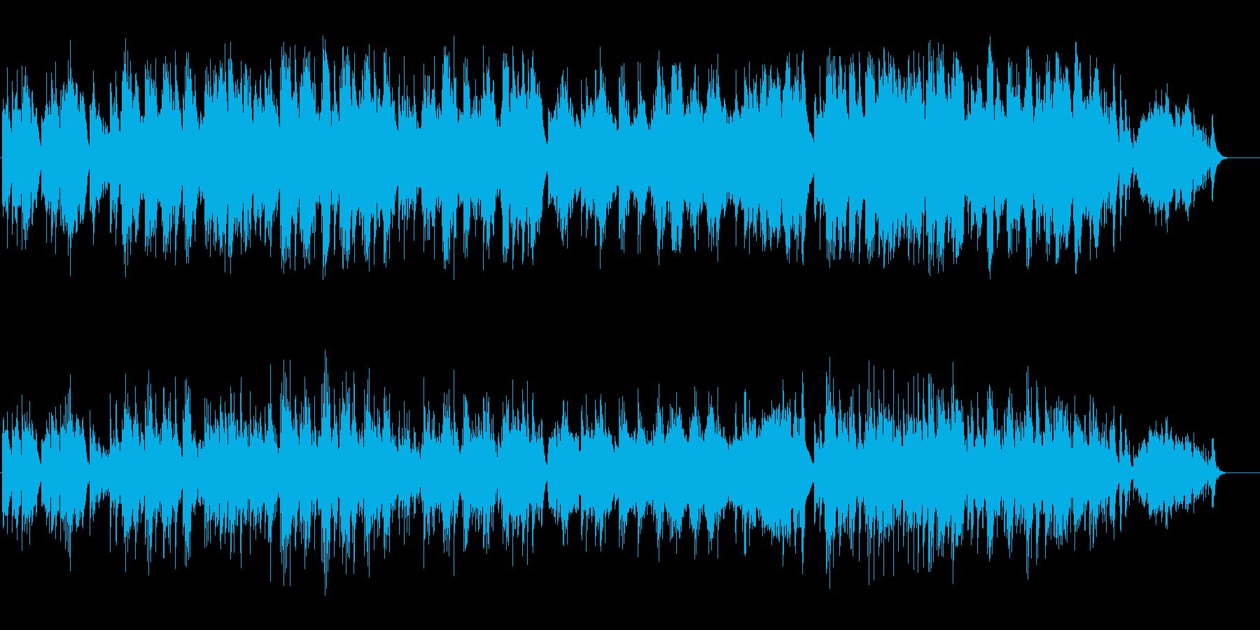 優美なハープのアンビ系BGの再生済みの波形