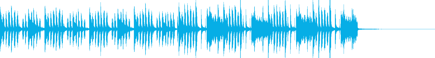 コミカル感のある間の抜けた感じの曲の再生済みの波形