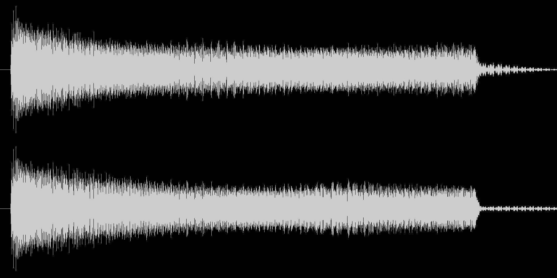 ブーッ/間違い/クイズの未再生の波形