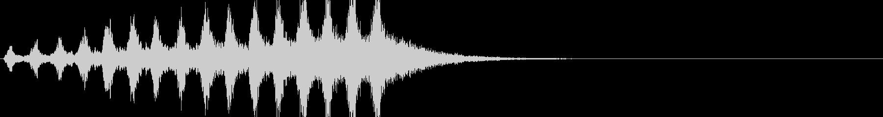 オリジナルのサスペンス風効果音の未再生の波形