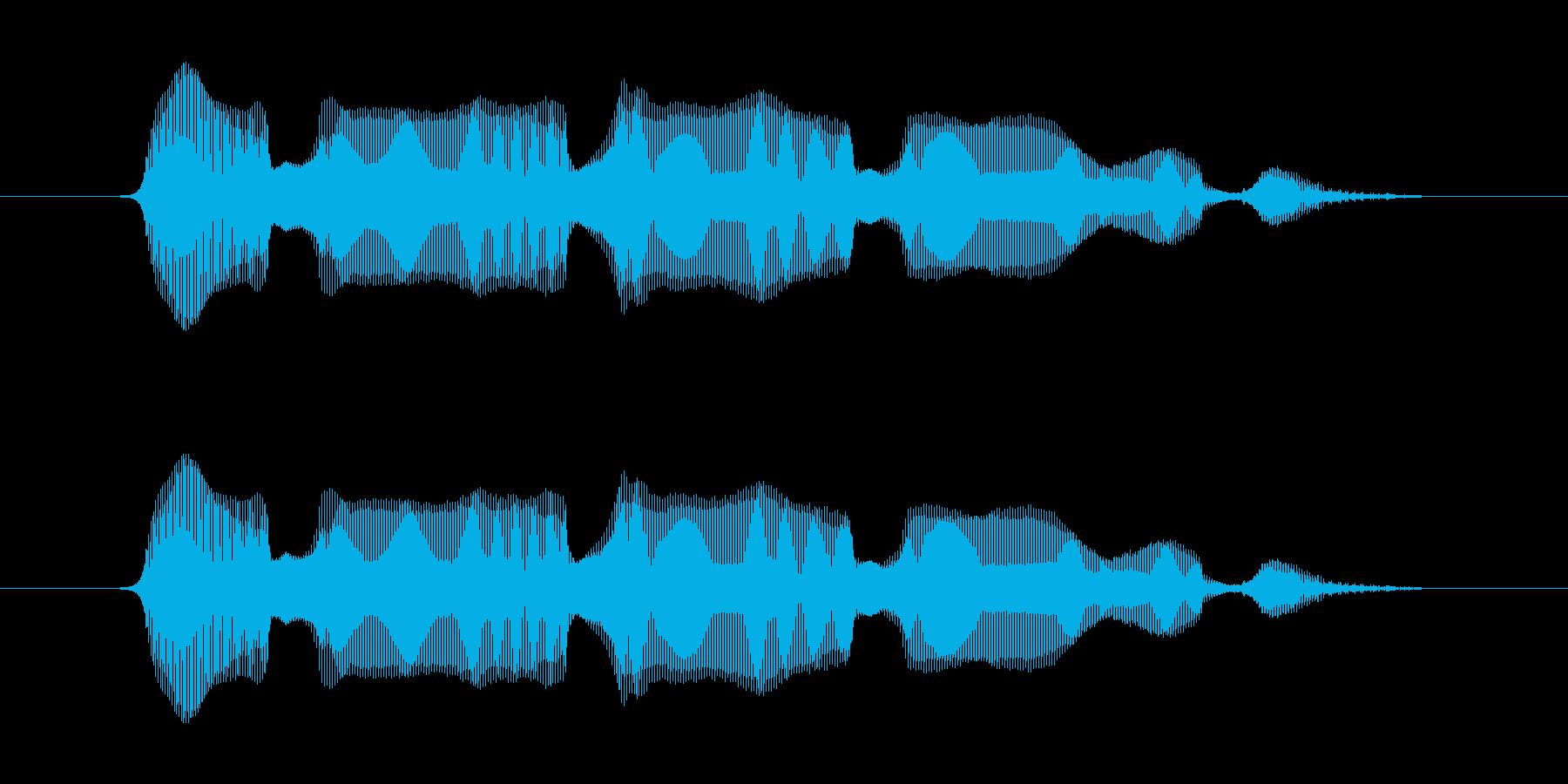 オロオロオロ・・・の再生済みの波形