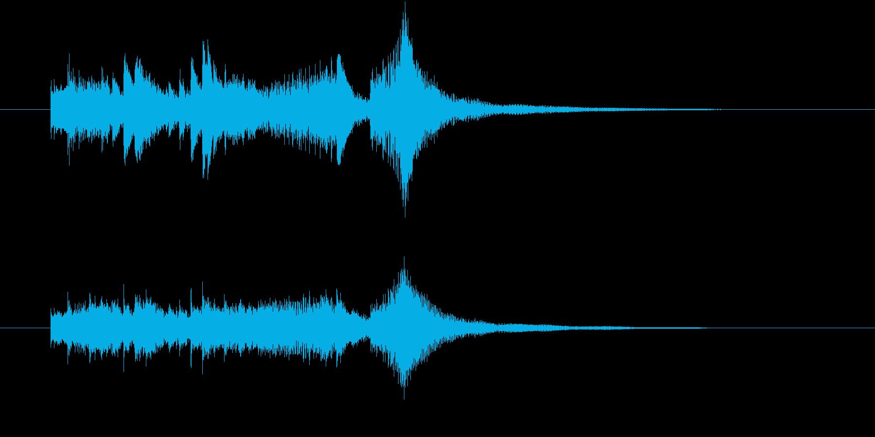 ファンタジー、メルヘンチックなジングルの再生済みの波形