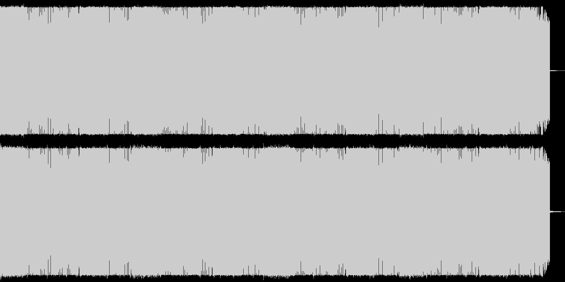 戦闘シーン向け疾走感のある攻撃的なメタルの未再生の波形