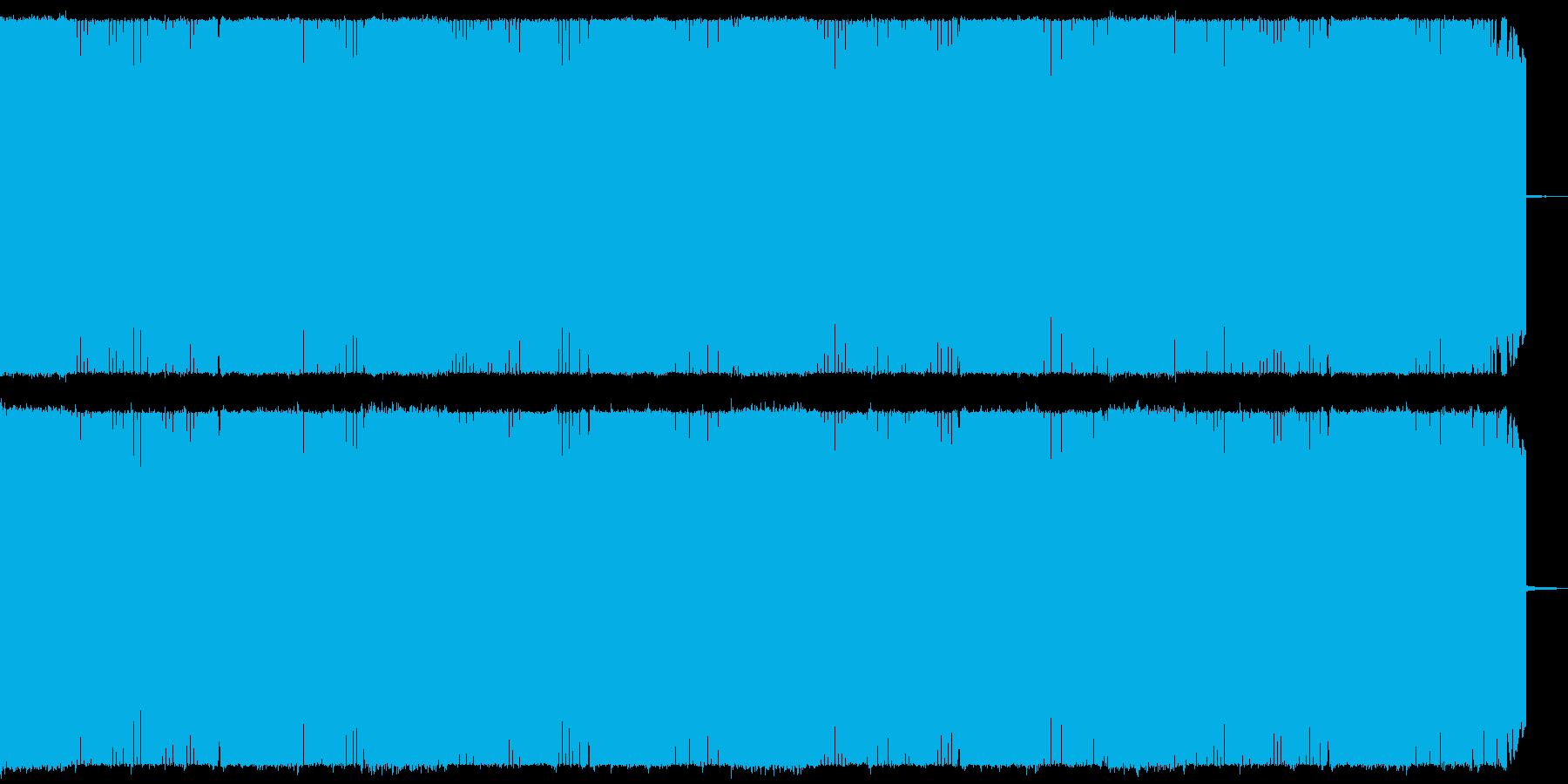 戦闘シーン向け疾走感のある攻撃的なメタルの再生済みの波形