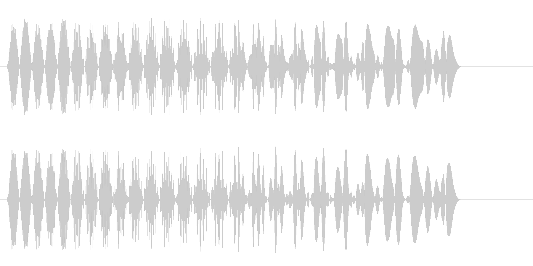 ピュウン!(シンプルな軽い発射音)の未再生の波形