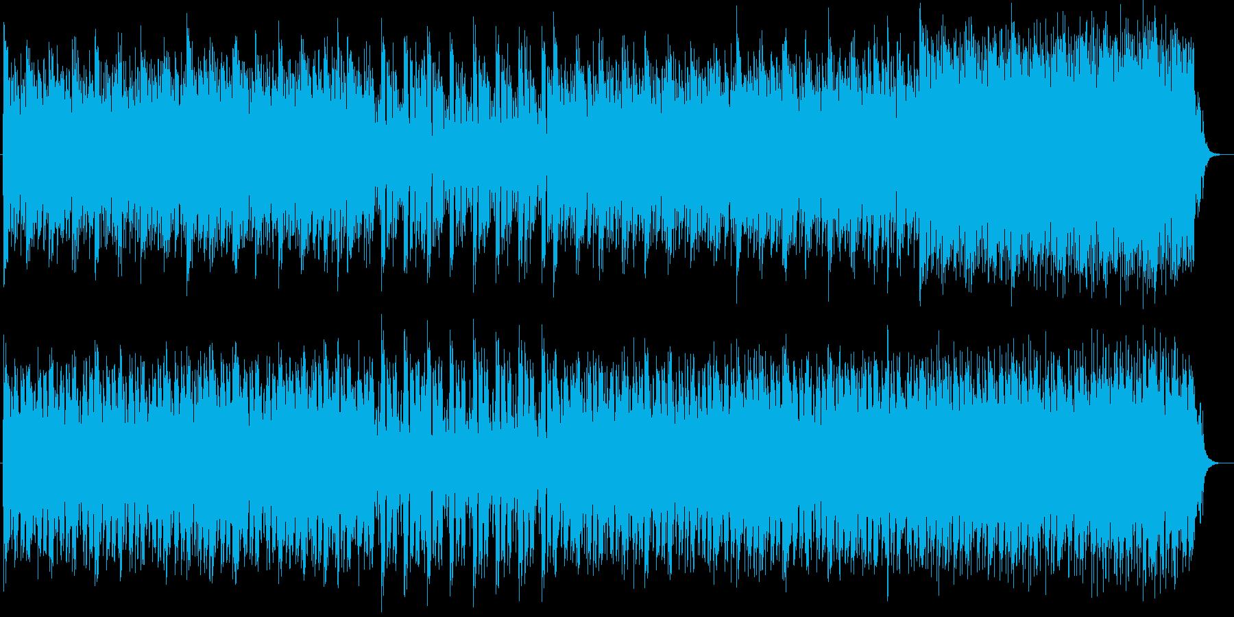 ミステリアスなシンセサイザーサウンドの再生済みの波形