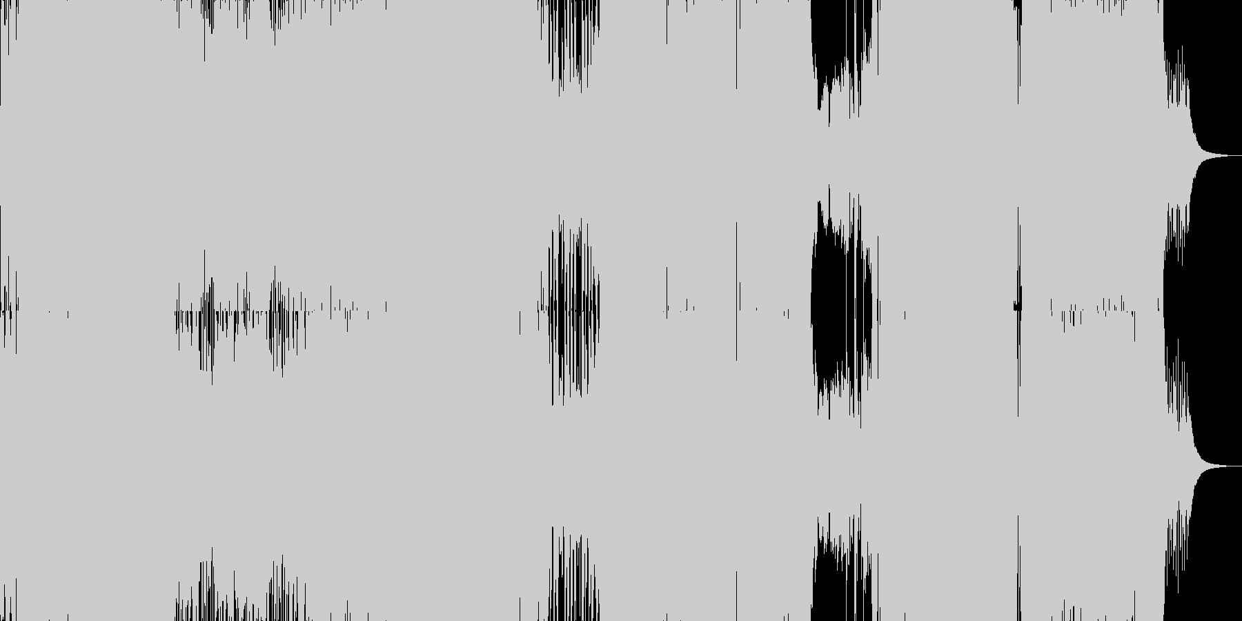 次世代ガールズポップロックアニメソングの未再生の波形