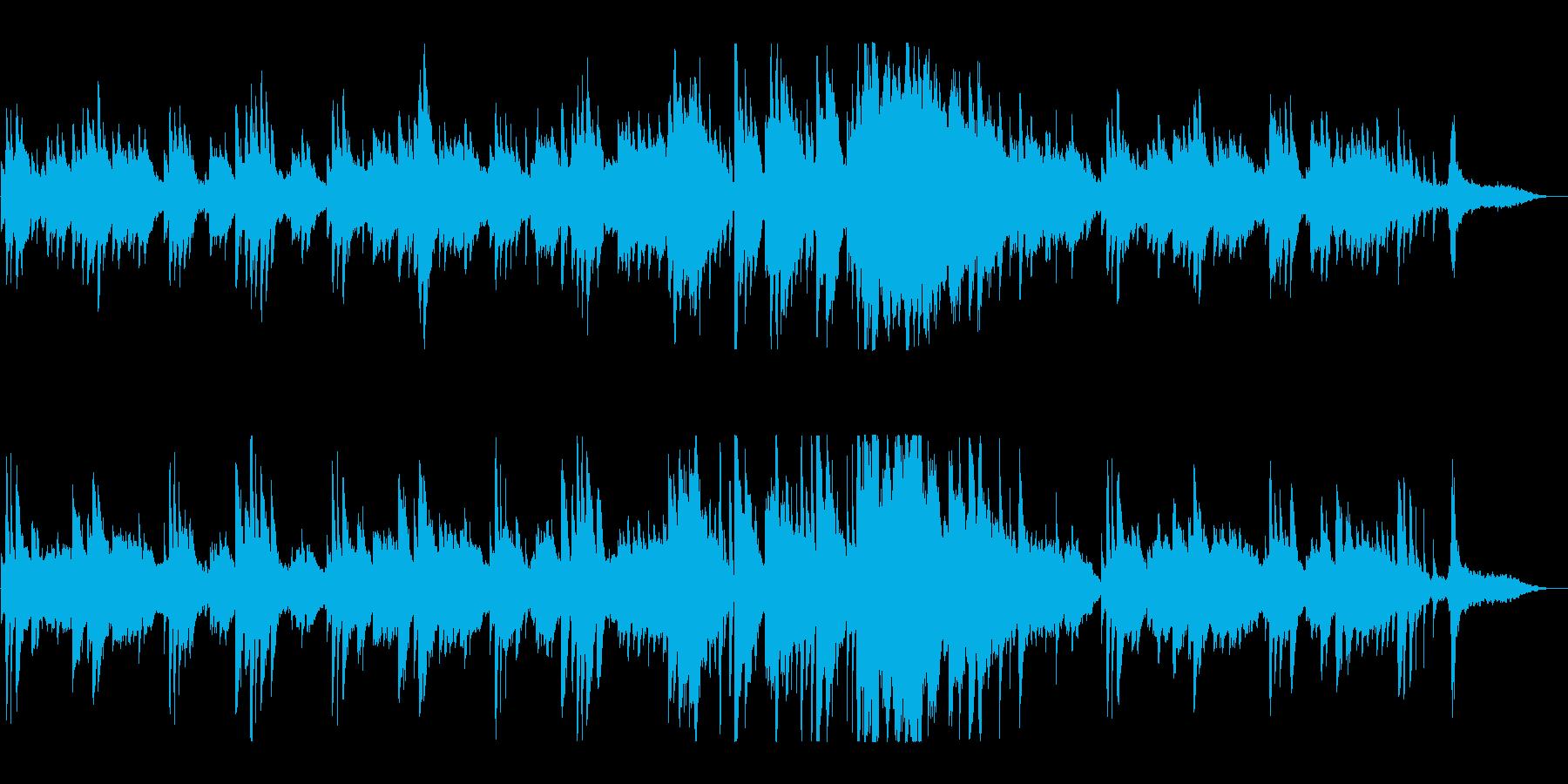 ピアノの音色が奏でる美しいバラードの再生済みの波形