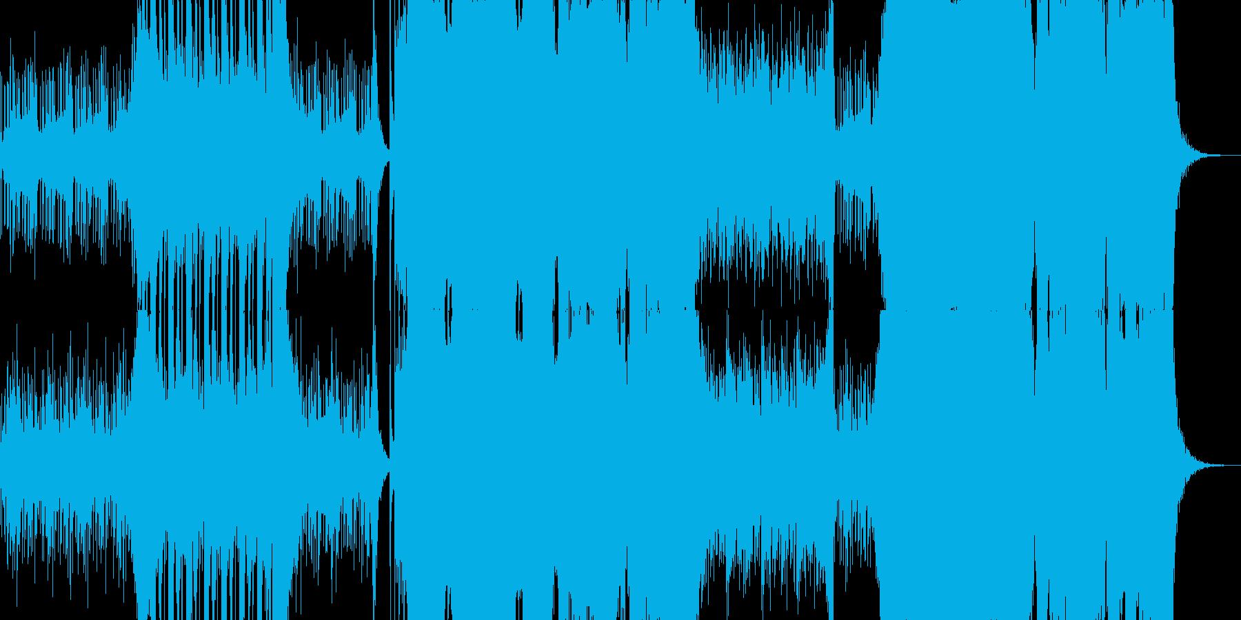 アブストラクトでハードなダブステップの再生済みの波形