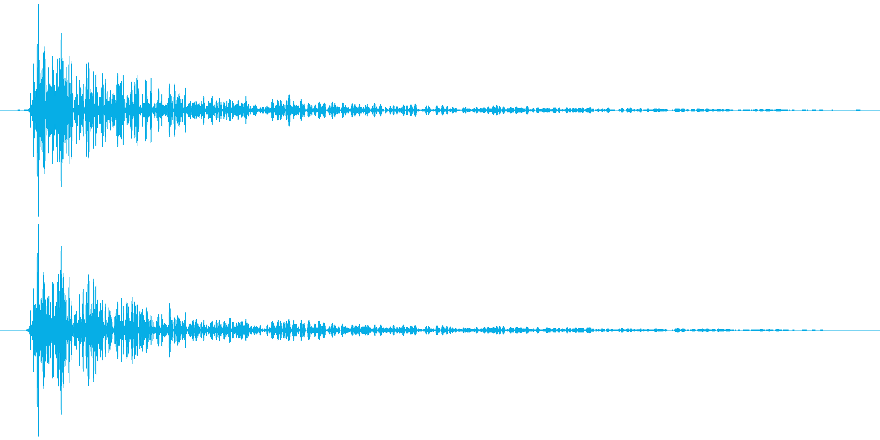 引き戸 閉めきり音 トォン…の再生済みの波形