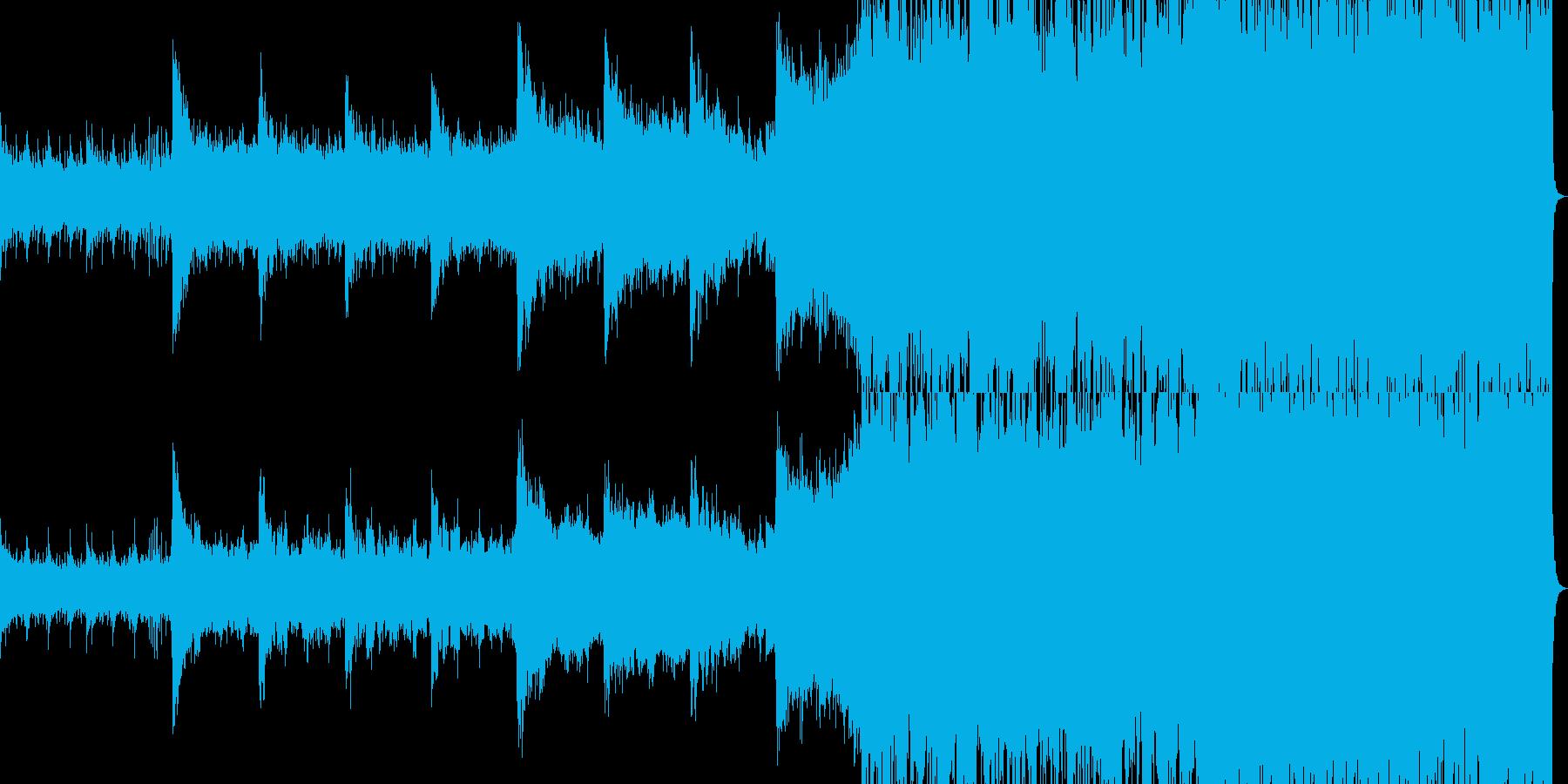 透明感のあるロックの再生済みの波形