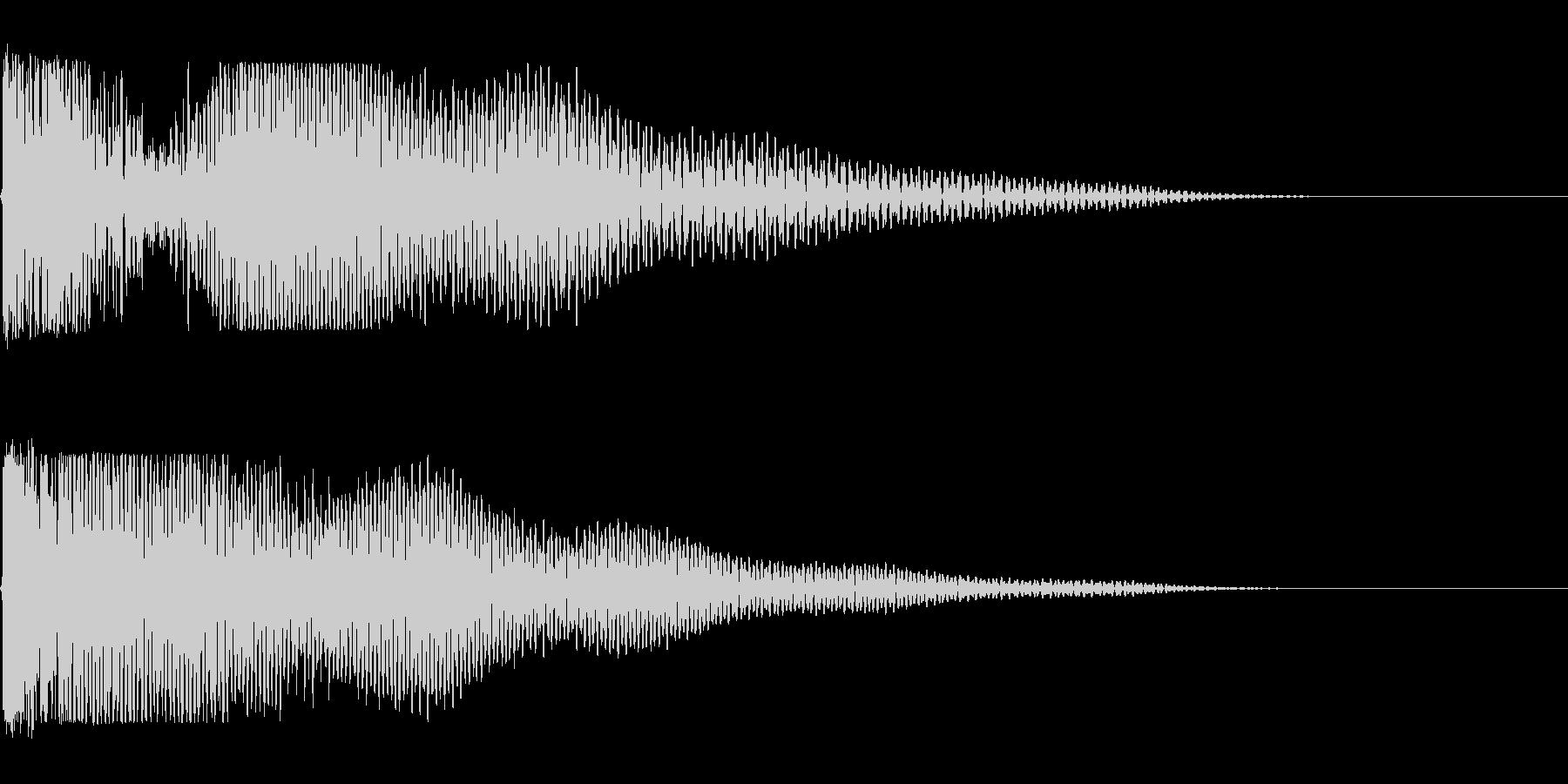 ガーンときた時の音の未再生の波形