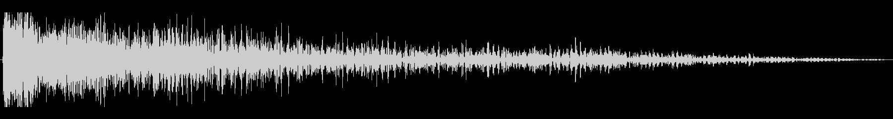 レーザービーム(ロケットエンジン風な音)の未再生の波形