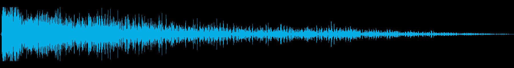 レーザービーム(ロケットエンジン風な音)の再生済みの波形